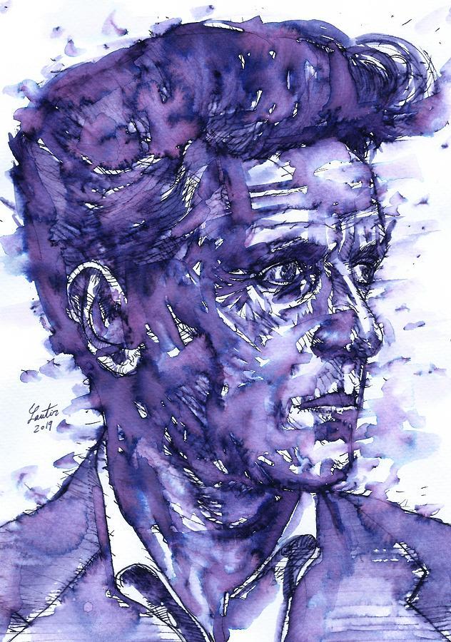LUDWIG WITTGENSTEIN - watercolor portrait.8 by Fabrizio Cassetta