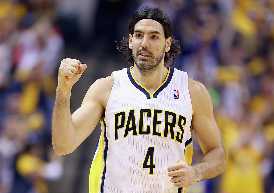 Luis Scola Photograph by Andy Lyons