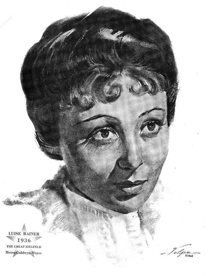 Luise Rainer 1936 Drawing