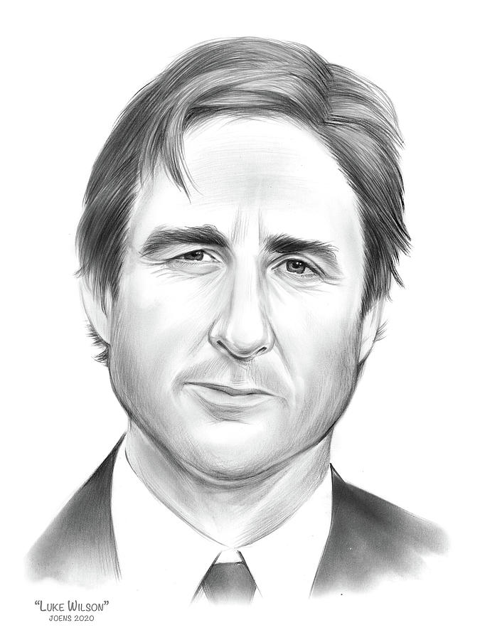 Luke Wilson - Pencil Drawing