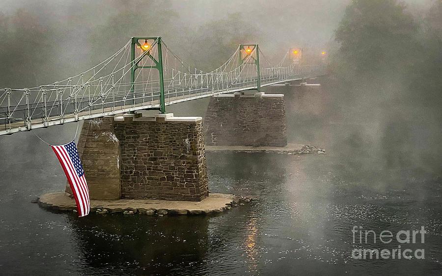 Lumberville Raven Rock Bridge Photograph
