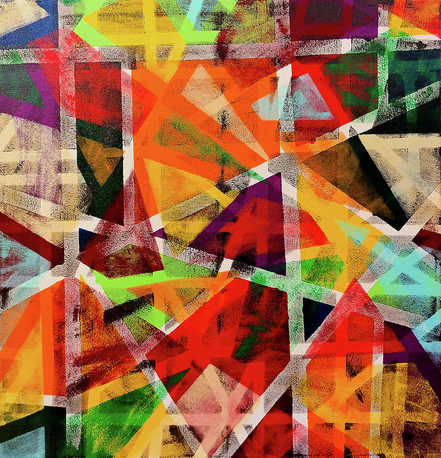 Luminous Geometry Painting by Trisha Pena