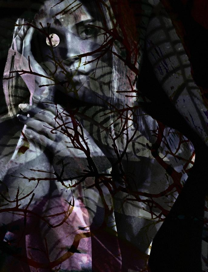 Woman Digital Art - Luna by Gunilla Munro Gyllenspetz