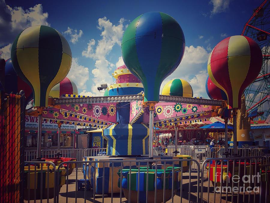 Coney Island Photograph - Luna Park - Coney Island Brooklyn New York by Miriam Danar