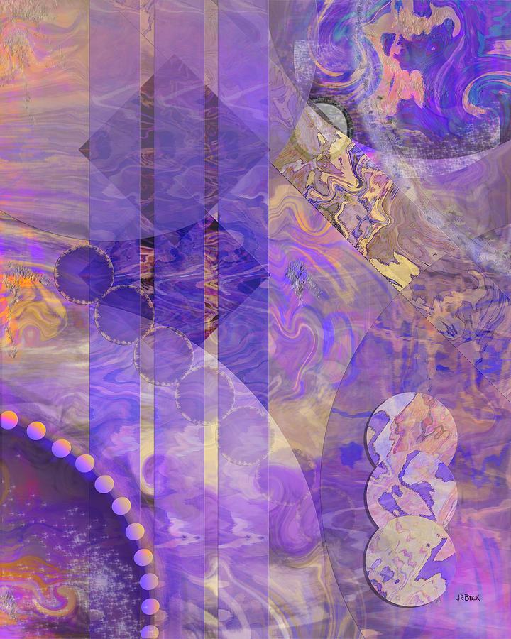 Lunar Digital Art - Lunar Impressions 2 by Studio B Prints