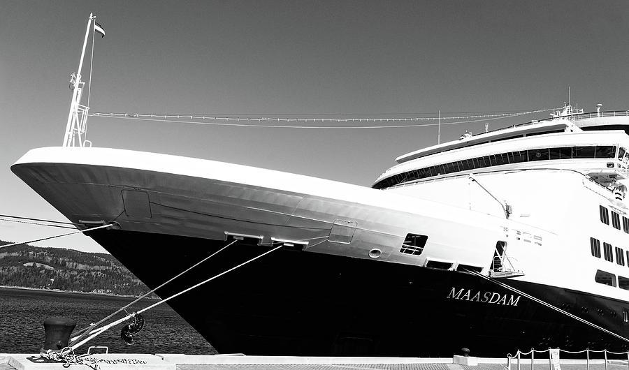Maasdam -- Holland America Cruise Ship in Saguenay, Quebec by Darin Volpe