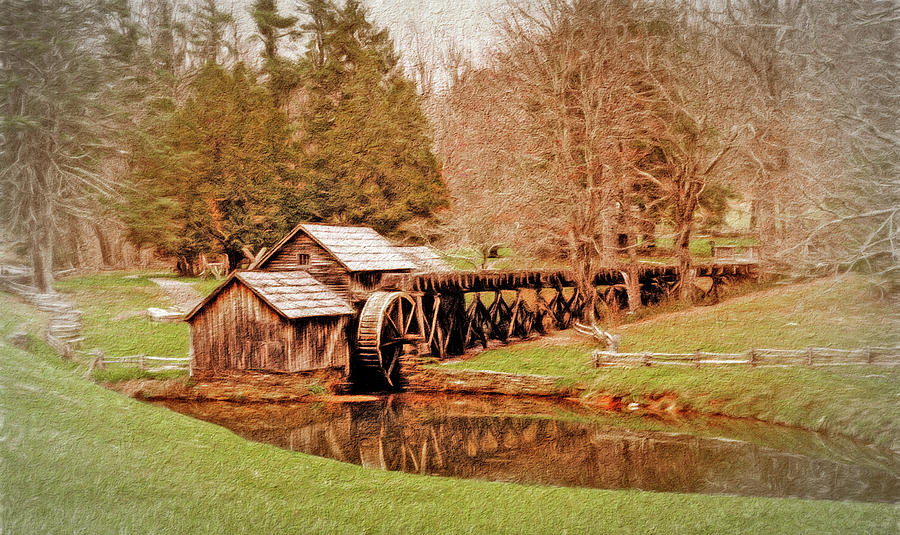 Mabry Mill Photograph - Mabry Mill Blue Ridge Parkway by Jim Cook