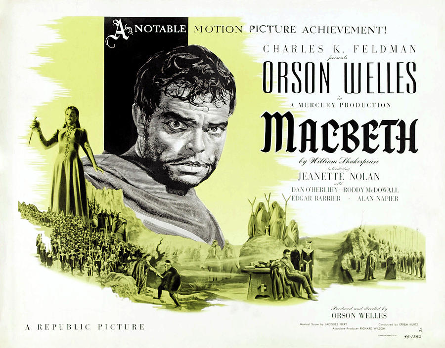 macbeth With Orson Welles, 1948 Mixed Media