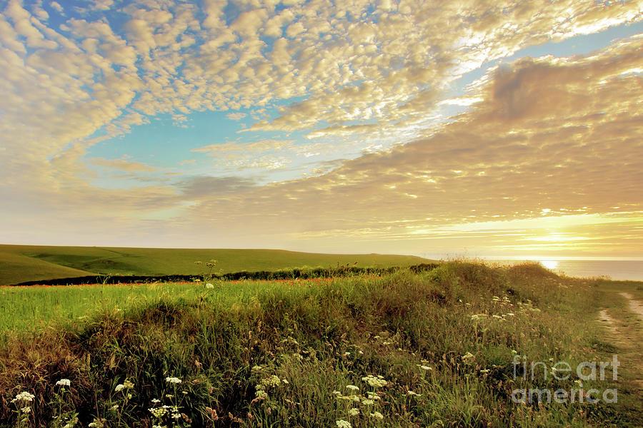 Mackerel Sky Sunset Photograph