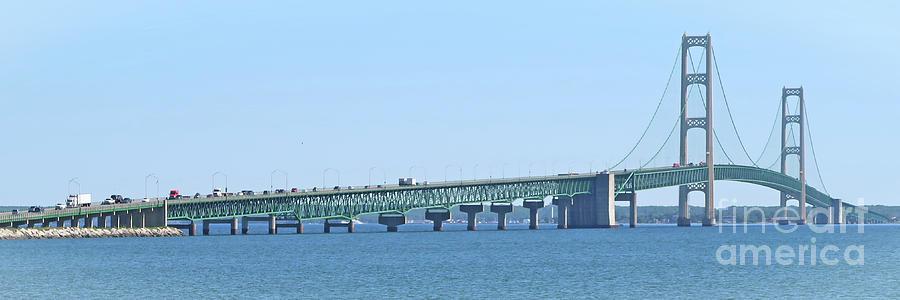 Mackinac Bridge Panorama - wide by Ann Horn