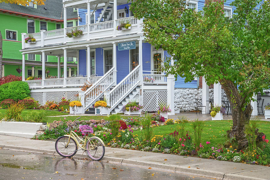 Mackinac Island Photograph - Mackinac Island On Lake Huron Is Gorgeous. Heres One Example Among Many. by Bijan Pirnia