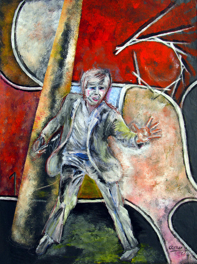Male Painting - Mad World by Tom Conway