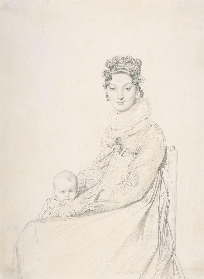 Madame Alexandre Lethiere and Her Daughter Letizia by Jean-Auguste-Dominique Ingres