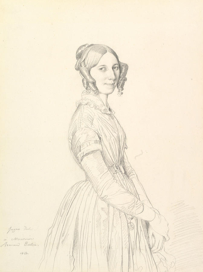 Madame Armand Bertin, nee Marie-Anne-Cecile Dollfuss, 1843 by Jean-Auguste-Dominique Ingres