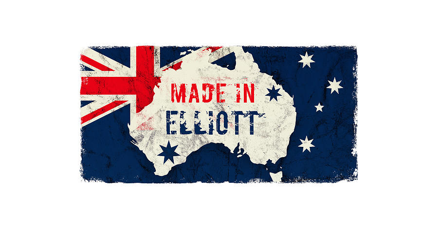 Elliott Digital Art - Made In Elliott, Australia by TintoDesigns