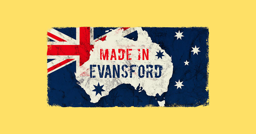 Made In Evansford, Australia Digital Art