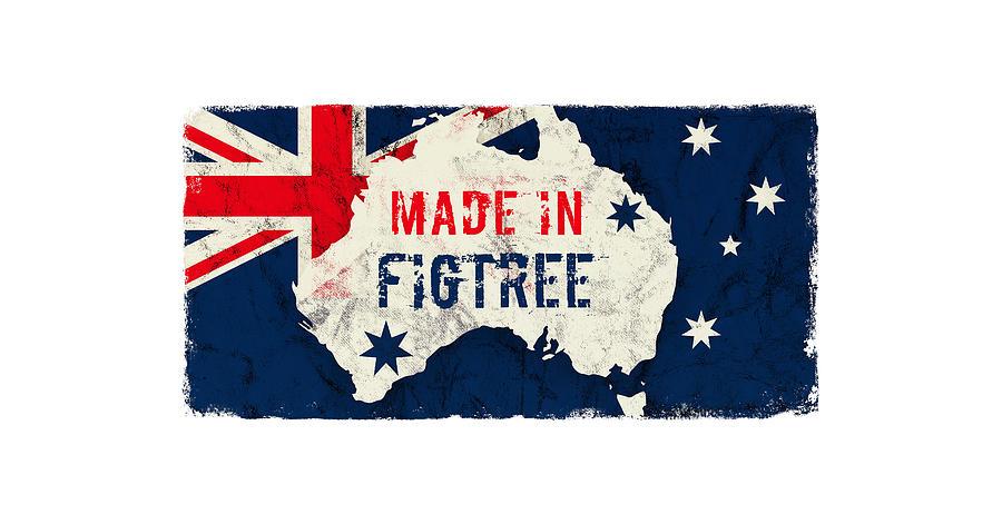 Figtree Digital Art - Made In Figtree, Australia by TintoDesigns