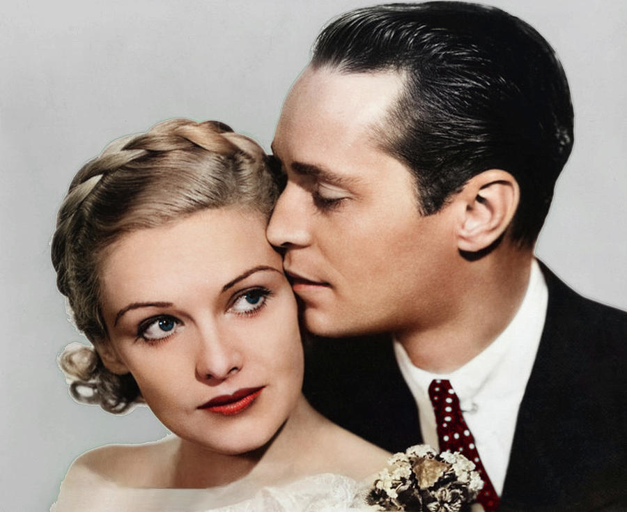 Madeleine Carroll And Franchot Tone - 1934 Photograph