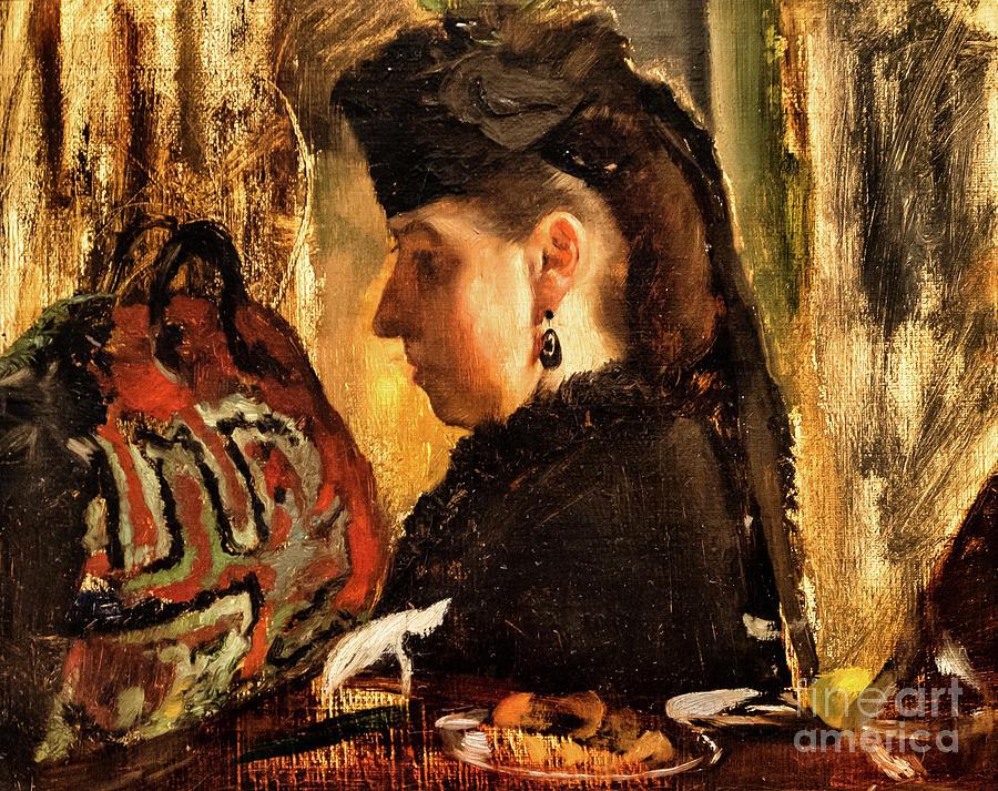 Mademoiselle Marie Dihau by Degas by Edgar Degas
