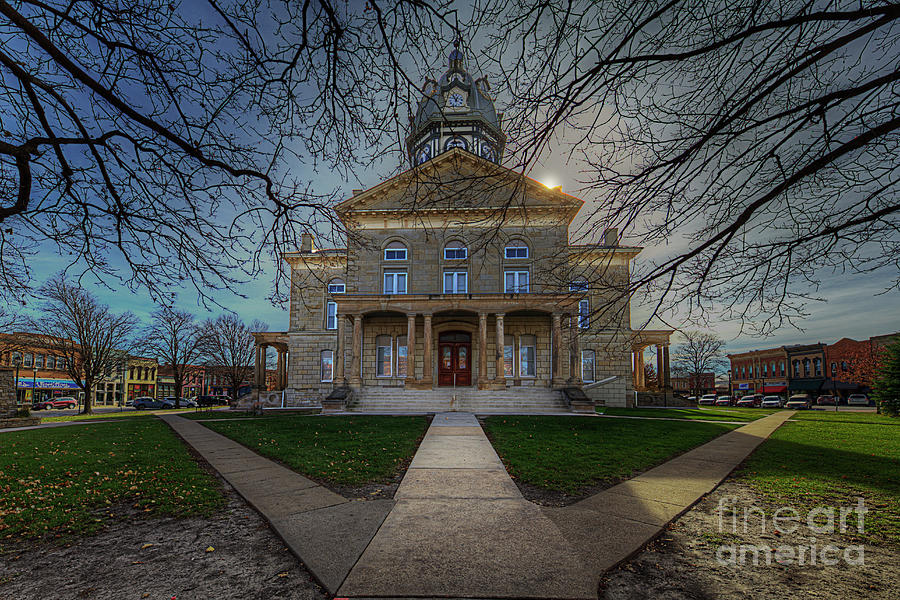 Travel Photograph - Madison Iowa County Courthouse   by Larry Braun