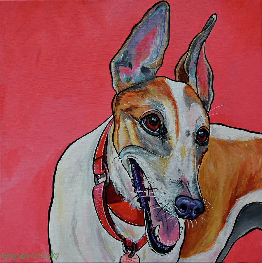 Madison the Greyhound by Patti Schermerhorn