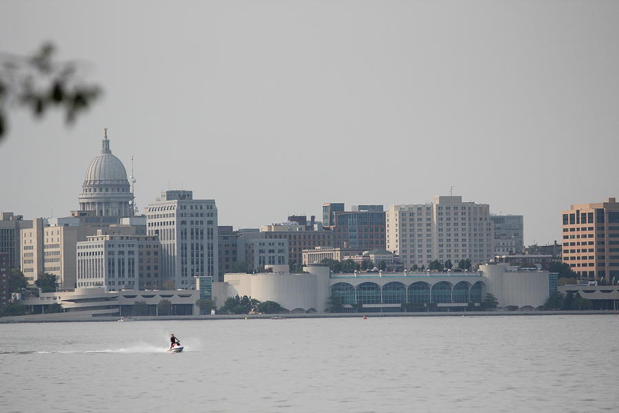Madison Photograph - Madison, Wisconsin Skyline by Callen Harty