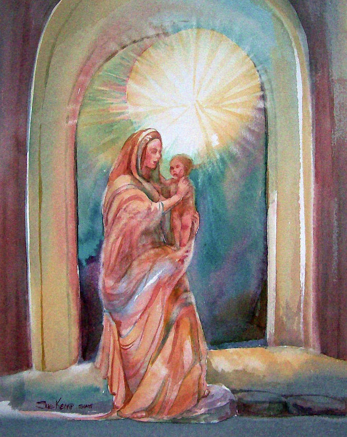 Mary Painting - Madonna and Child by Sue Kemp