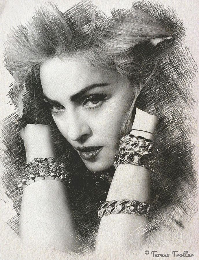 Madonna Sketch Drawing