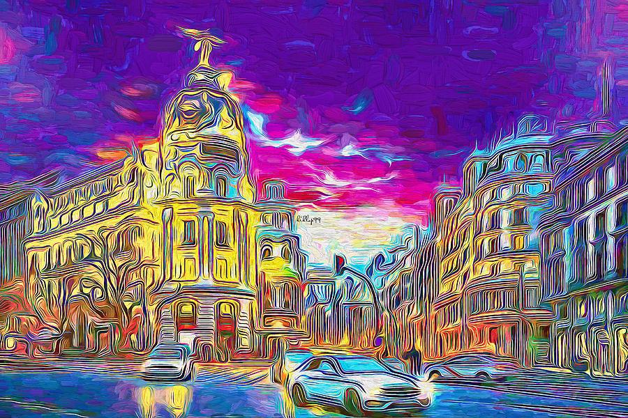 Madrid Night Impressum Painting