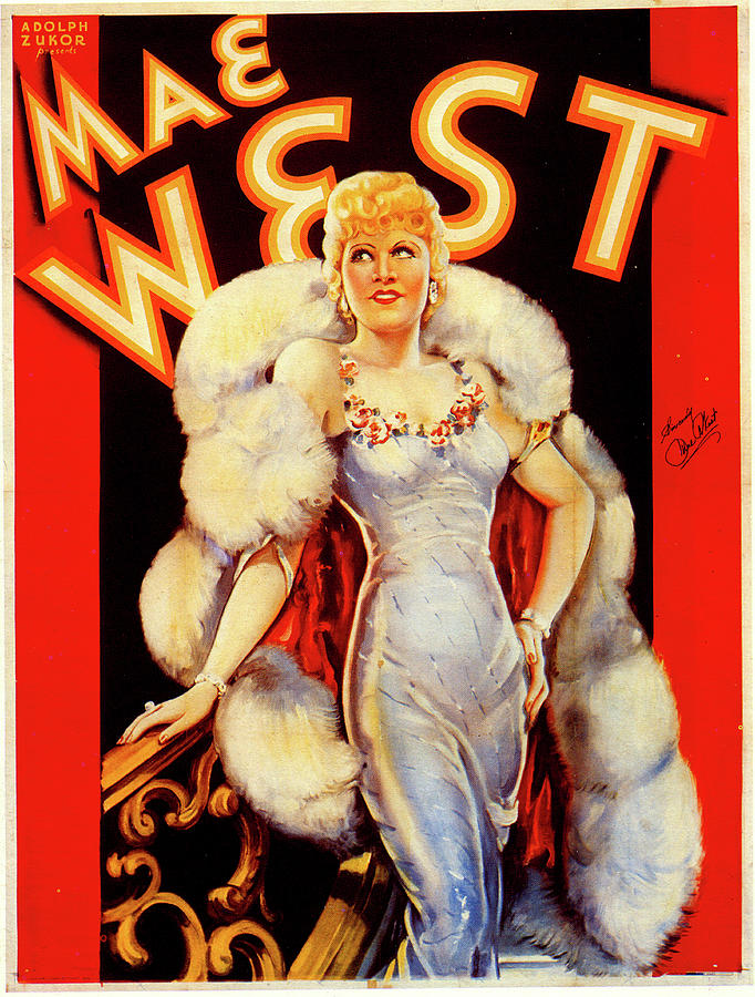 Mae West Publicity Poster 1930s Mixed Media