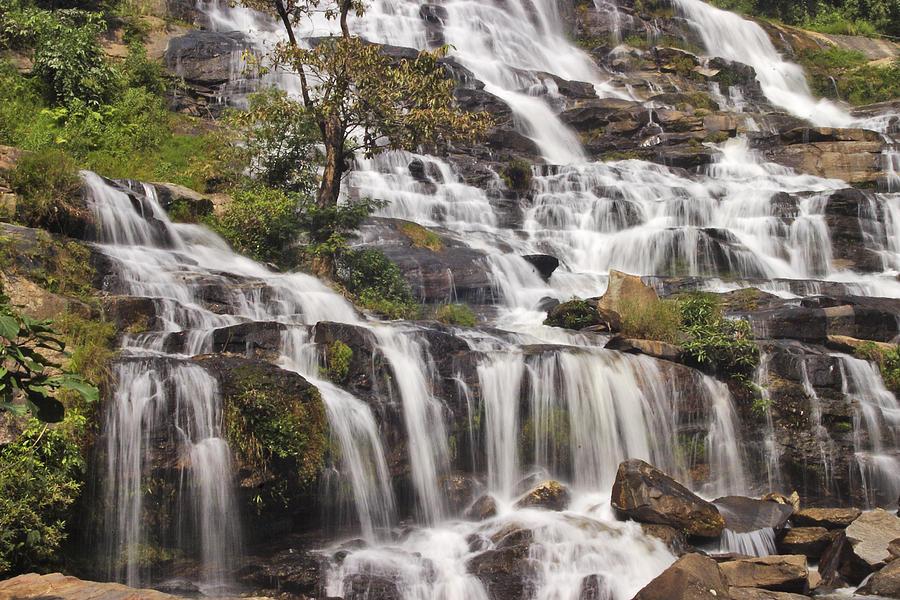 3scape Photograph - Mae Ya Waterfall by Adam Romanowicz