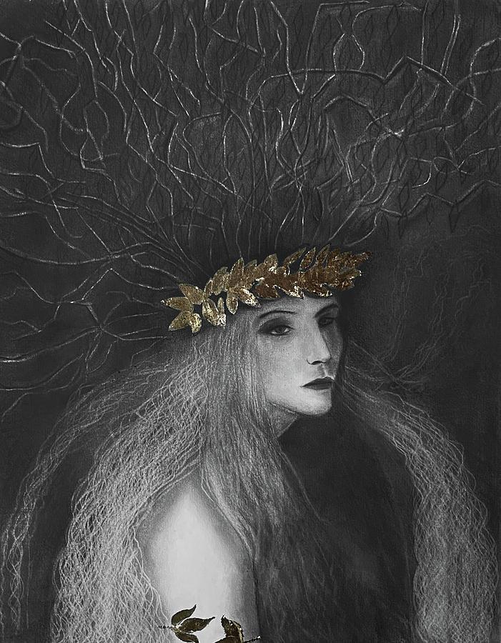 Maenad Drawing - Maenad by Nadija Armusik