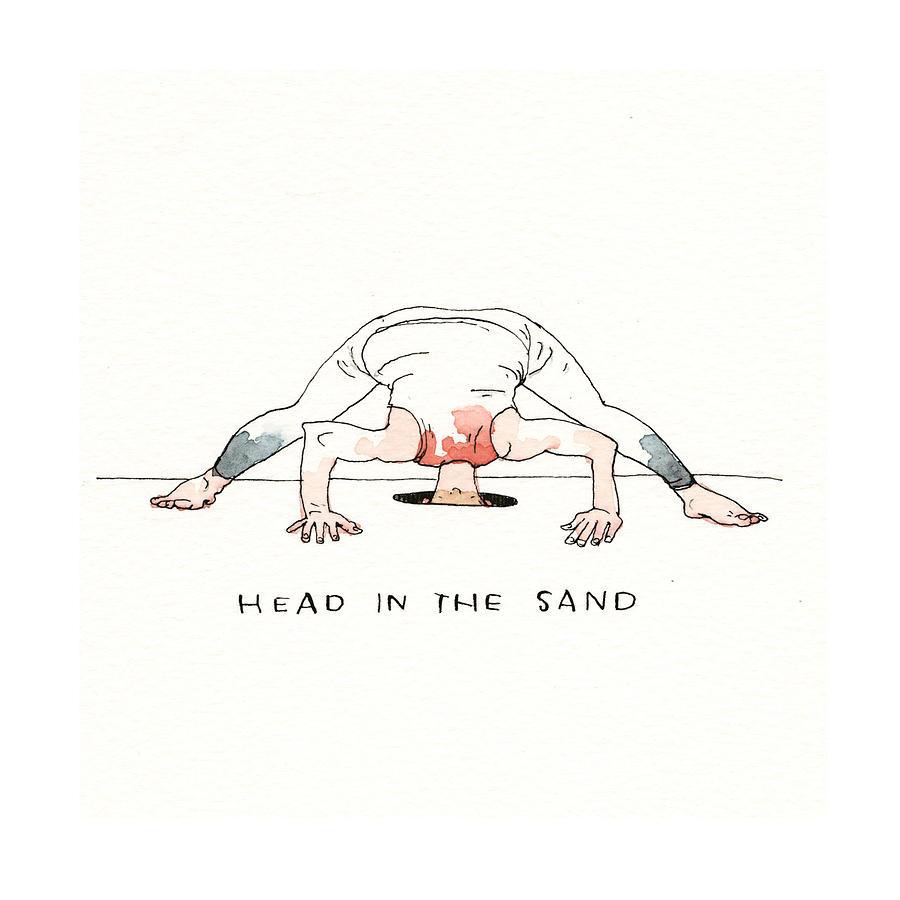 Maga Yoga The Poses Painting by Barry Blitt