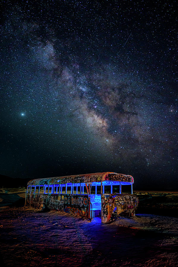 Milky Way Photograph - Magic Bus by Dave Koch