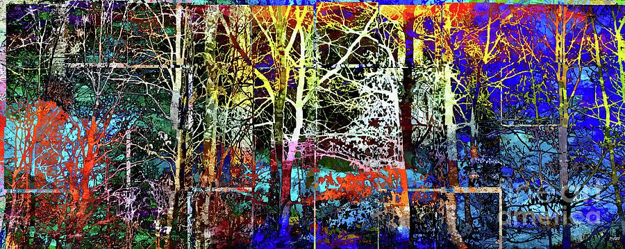 Magic Forest In Tiles Mixed Media