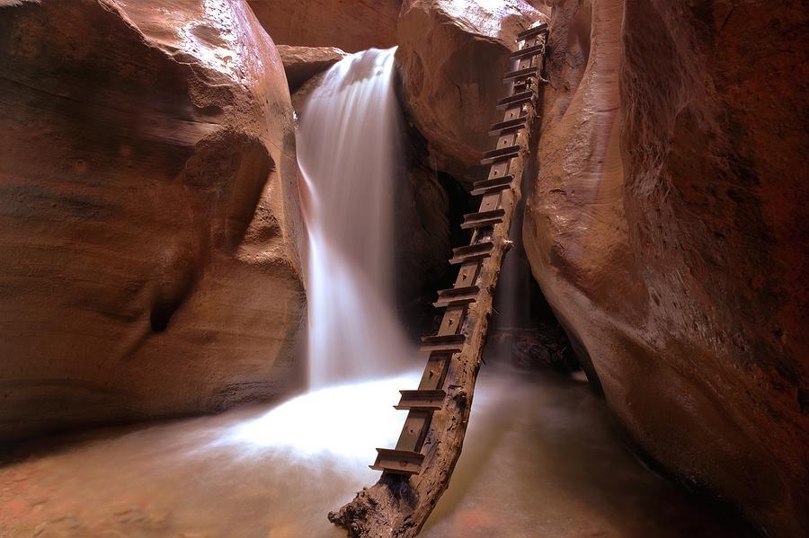 Magical Desert Falls Photograph