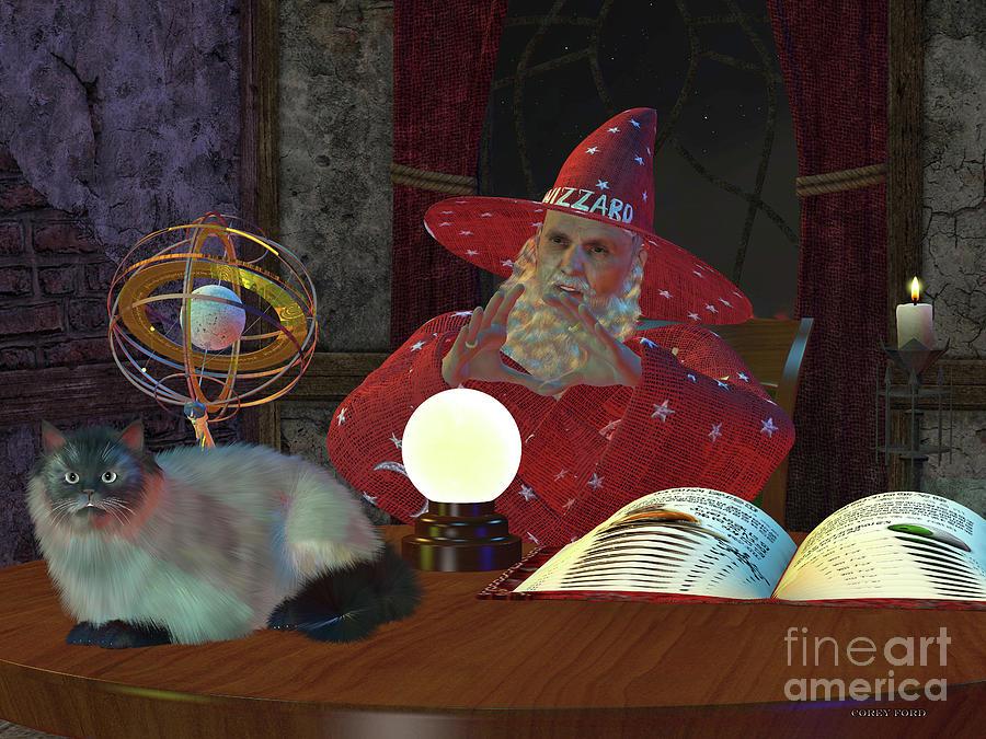 Magical Wizard Digital Art