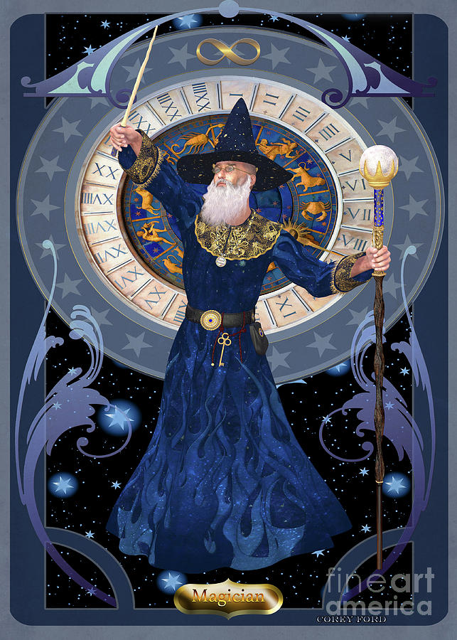Magician Card Digital Art