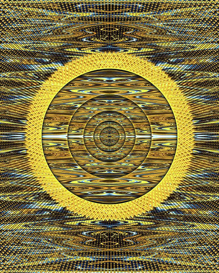 Magicians Portal to the Sun Digital Art by Jack Entropy