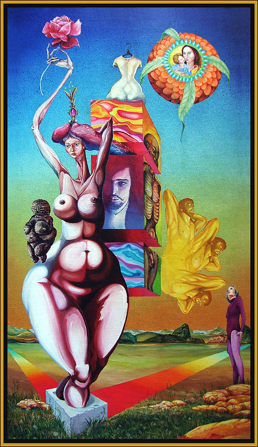 Surrealism Painting - Magna Mater by Otto Rapp