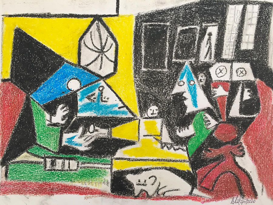Copy Of Picassos Maid Of Honour By Picasso. Drawing