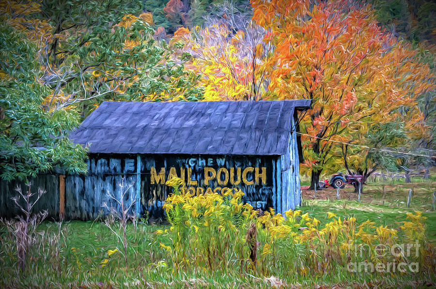 Mail Pouch Barn in Autumn - Painted by Kathleen K Parker