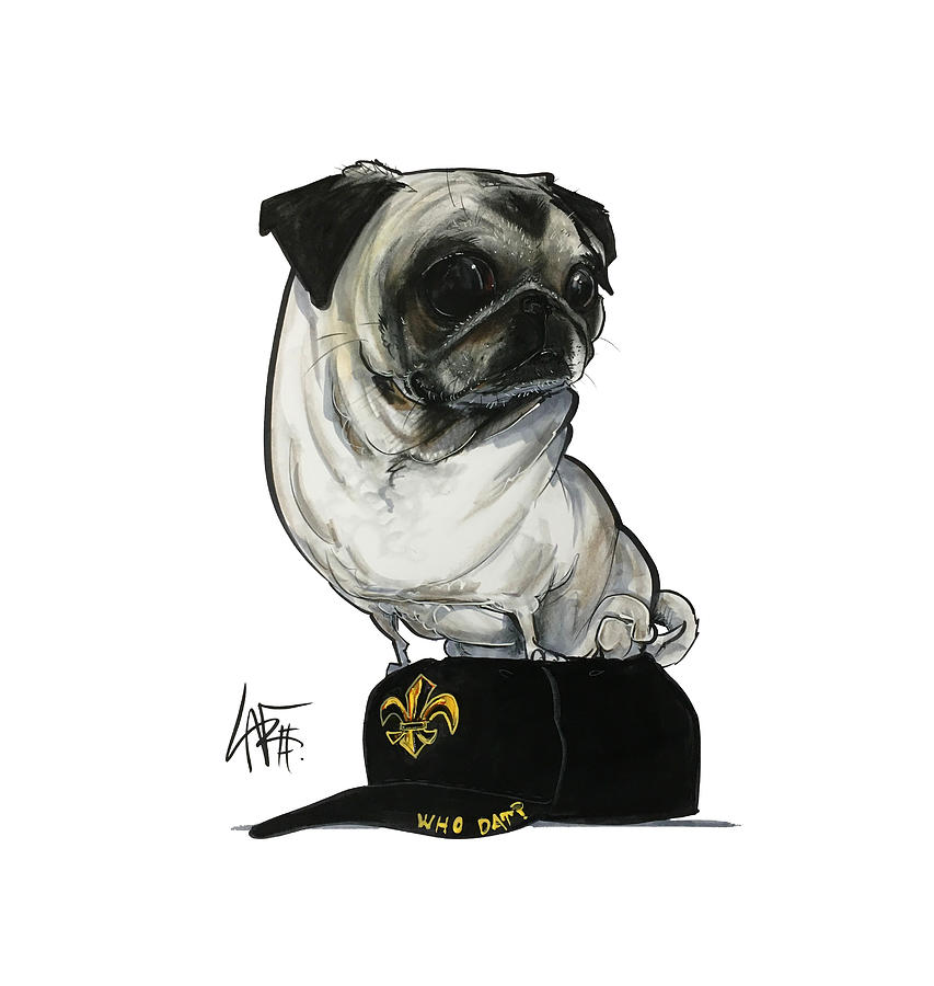Maillet Drawing - Maillet 4211 by Canine Caricatures Custom Merchandise