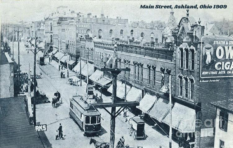 Main Street, Ashland Ohio 1909 Photograph