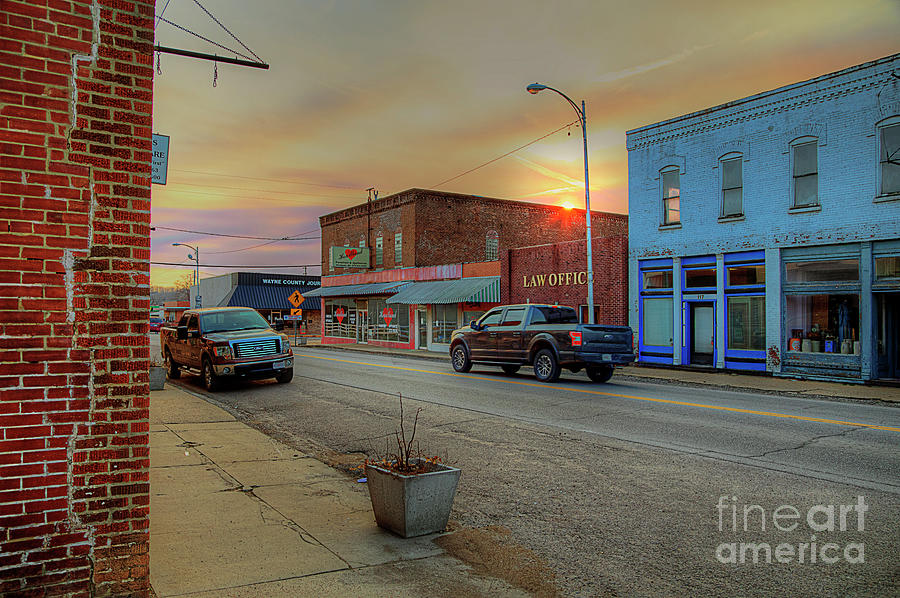 Travel Photograph - Main Street at Sunset by Larry Braun