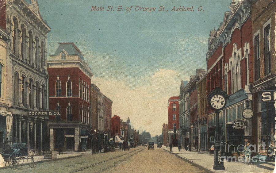 Main Street East Of Orange, Ashland, Ohio Painting