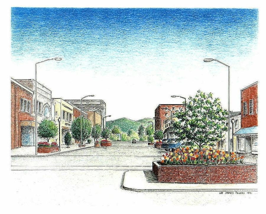 Main Street Hendersonville  Drawing by Lee Pantas