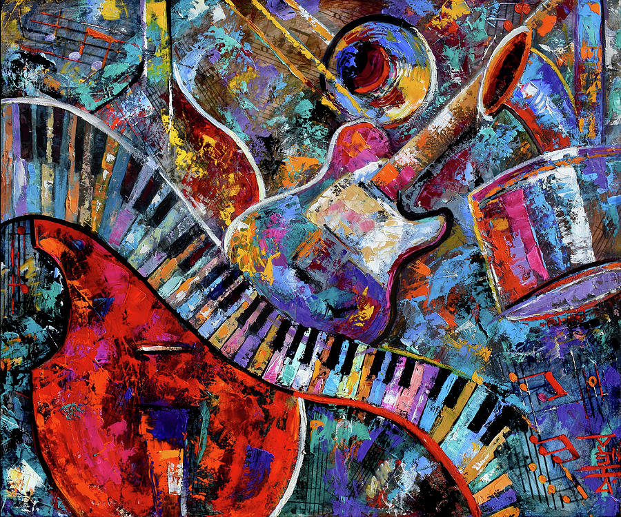 Abstract Painting - Make Music by Debra Hurd