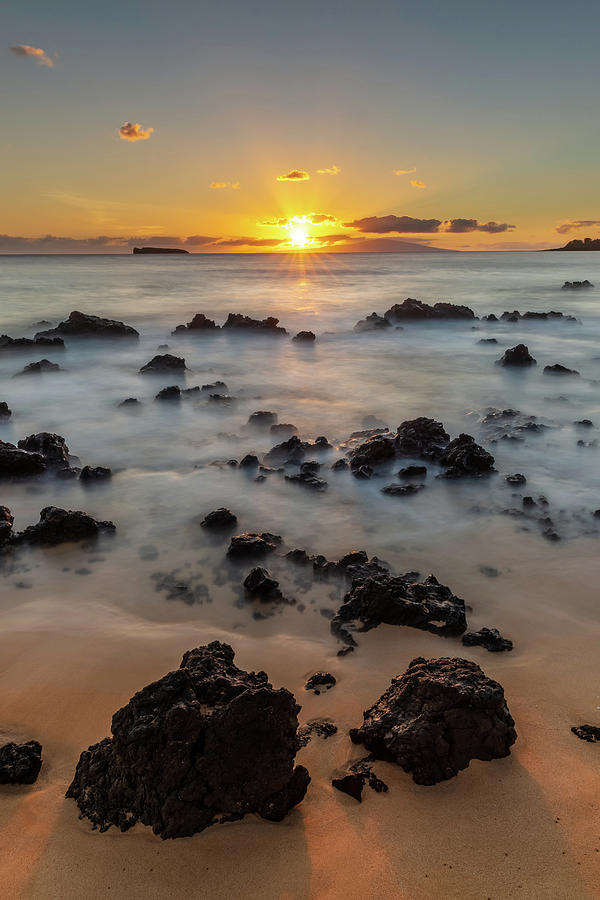 Makena Beach Sunset Hawaii Photograph