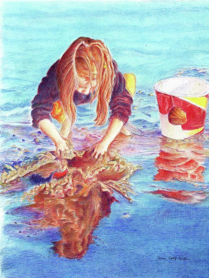 Ocean Drawing - Making Waterways by Susan Camp Hilton